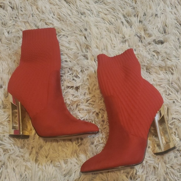 Catherine Malandrino Shoes - Red booties
